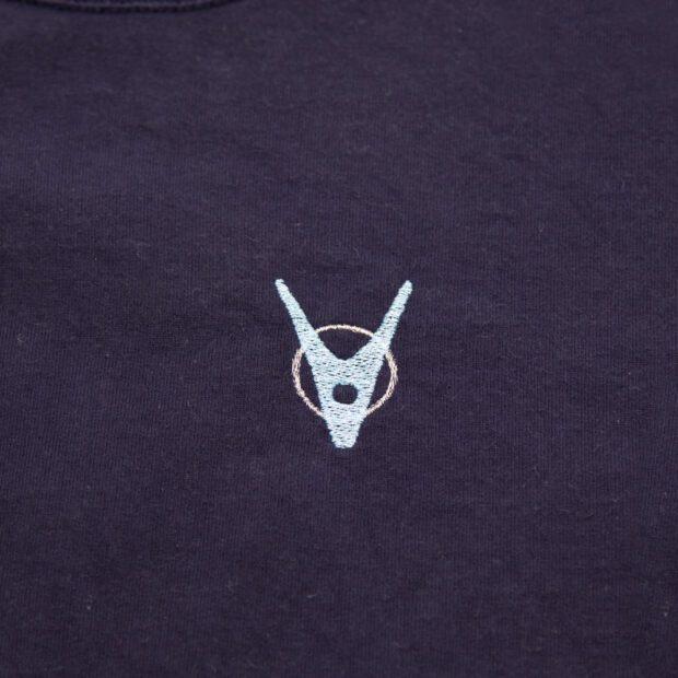 洗濯バサミ 刺繍 Tシャツ 刺繍拡大