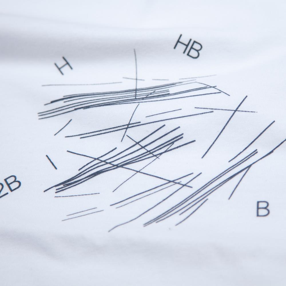 シャー芯 ユニセックス Tシャツ シルクスクリーン印刷 拡大