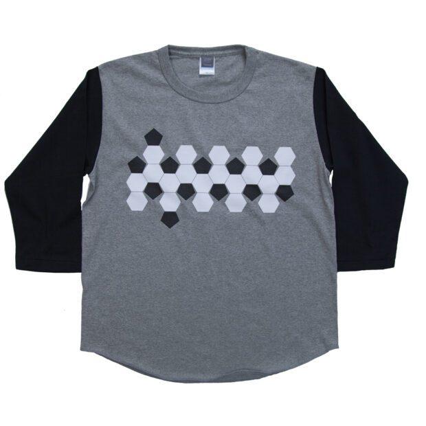 サッカーボールの展開図 7分袖Tシャツ