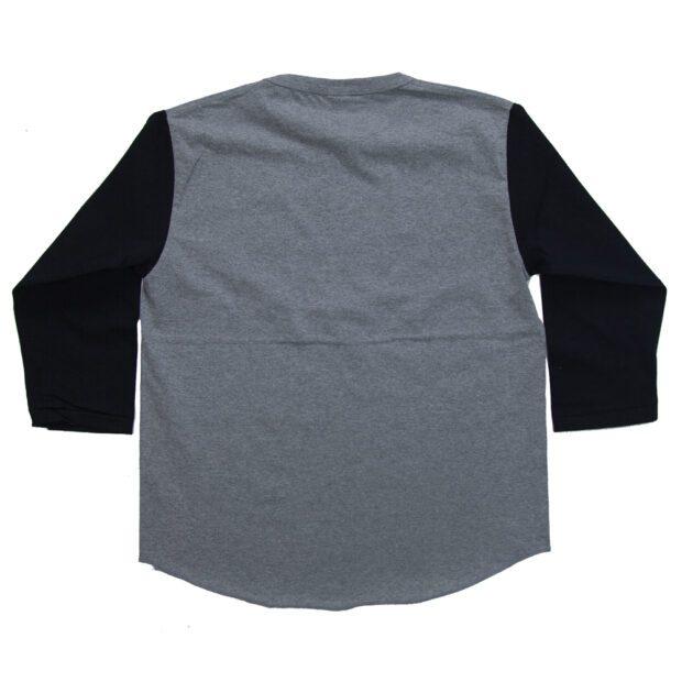 サッカーボールの展開図 7分袖Tシャツ 後ろ