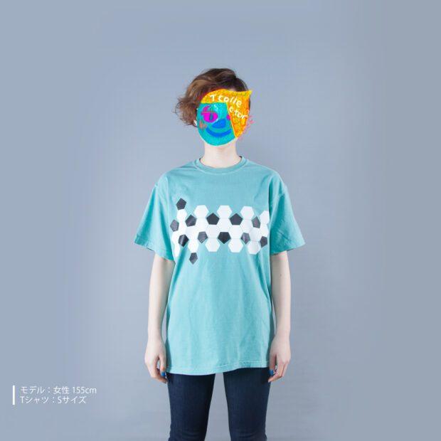 サッカーボールの展開図 プリントTシャツ