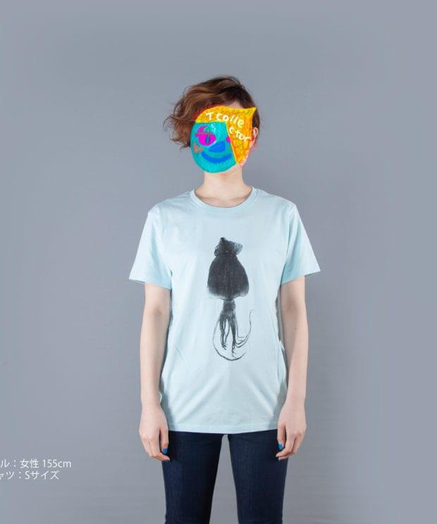 するめTシャツ女性モデル正面