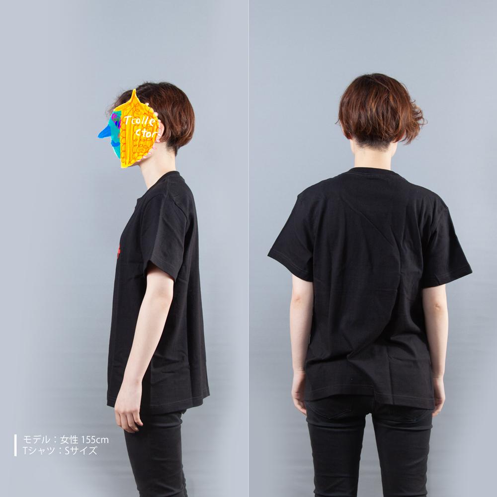 ウルトラマンシリーズ シュワッチ Tシャツ女性モデル横後ろ
