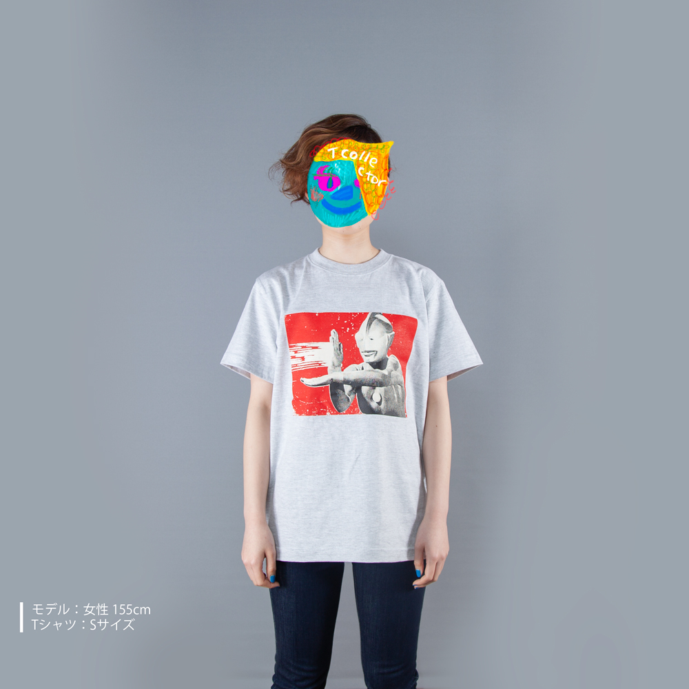 ウルトラマンシリーズ ウルトラマン Tシャツ 女性モデル正面