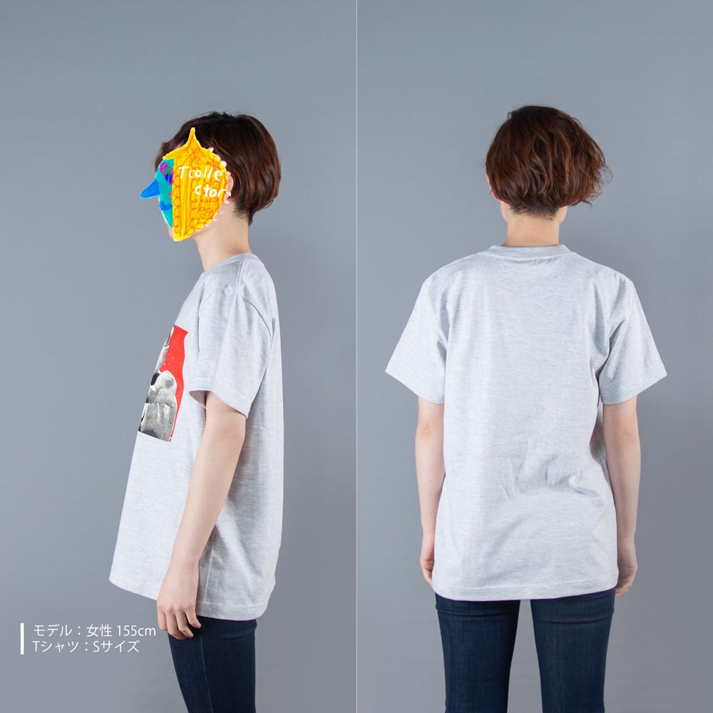 ウルトラマンシリーズ ウルトラマン Tシャツ 女性モデル横うしろ