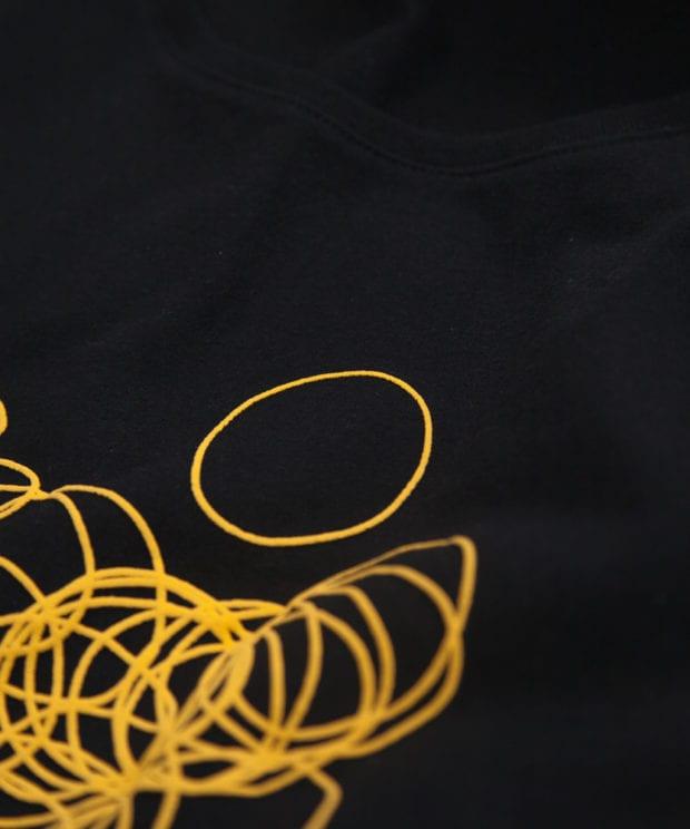 輪ゴム ユニセックス Tシャツ シルクスクリーン印刷 拡大