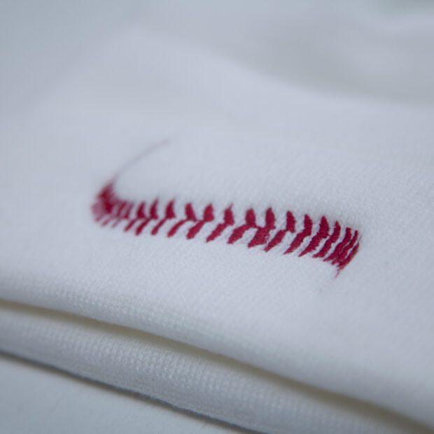 野球のボール ビニー 刺繍拡大