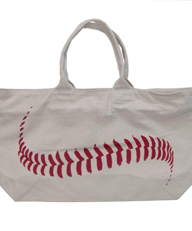 野球のボール キャンバス ジップ トートバッグ