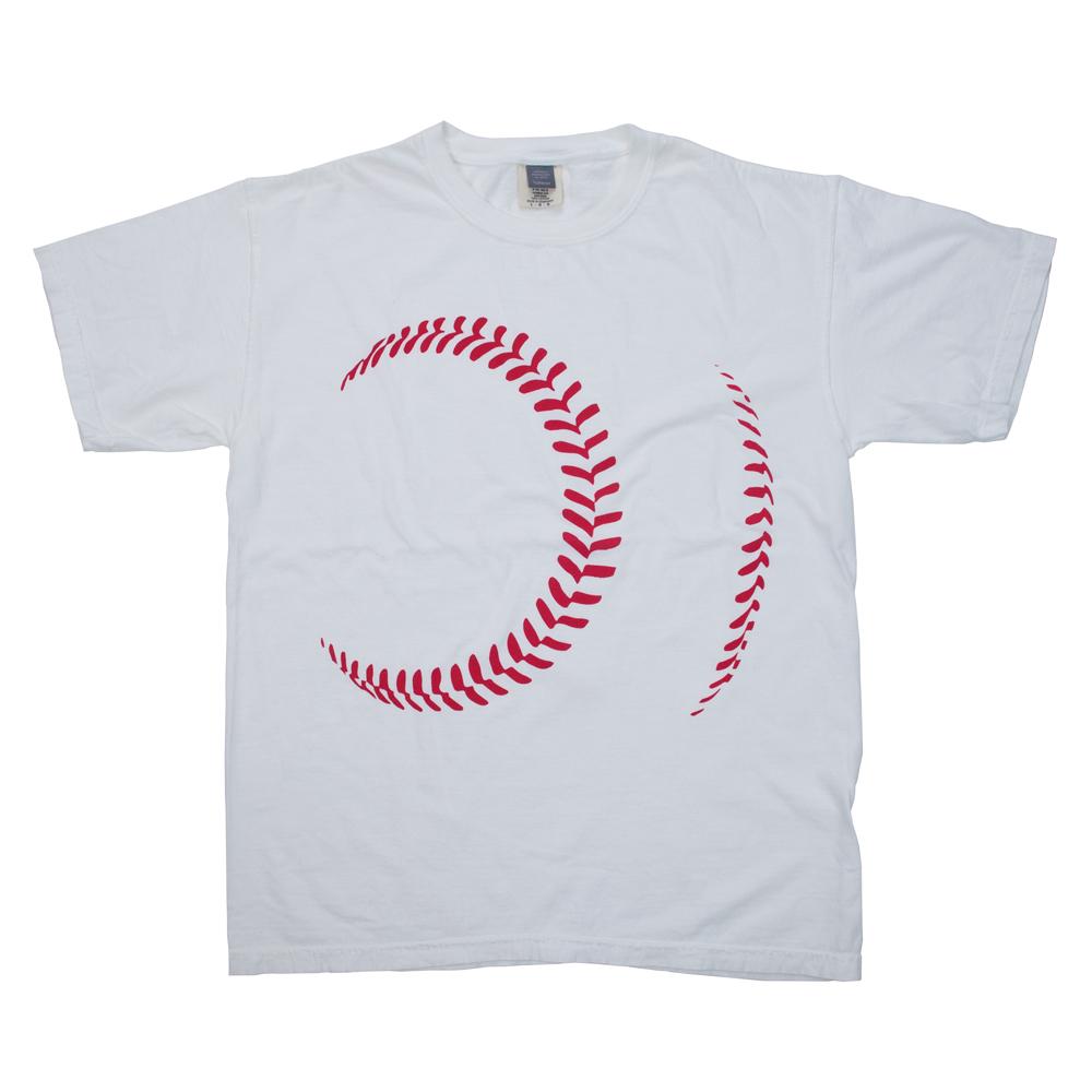 野球のボールTシャツ