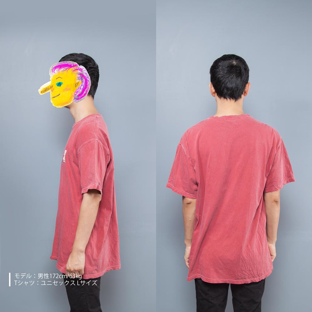 シリカゲル ユニセックス Tシャツ 男性モデル横後ろ