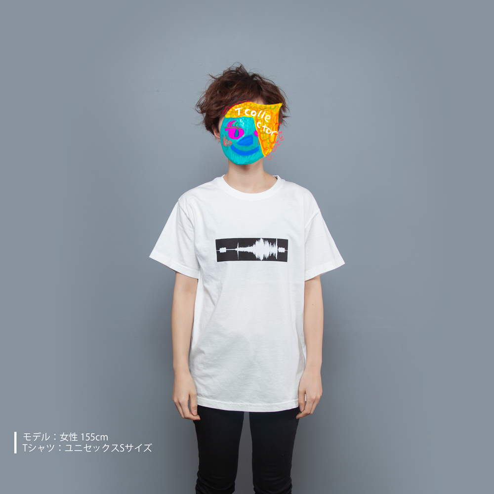 wave fileホワイトTシャツ モデル正面