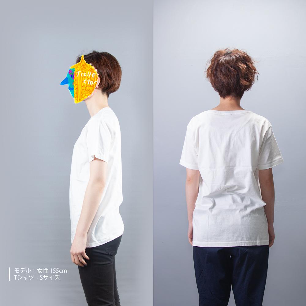 HBイラスト Tシャツ 女性モデル