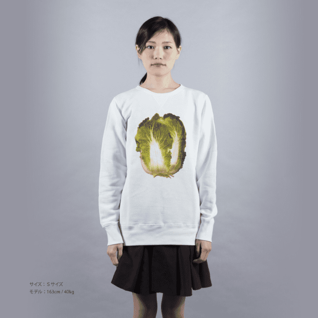 白菜スウェット 女性モデル