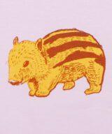 イノシシ 動物 (亥年) キッズ(子供) Tシャツ 拡大 ピンク