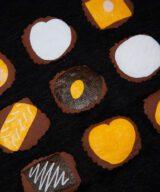 チョコレート レディース カットソー リネン100% プリント 拡大