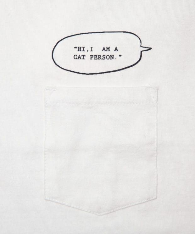 I'm a Cat person. ユニセックス ポケット Tシャツ