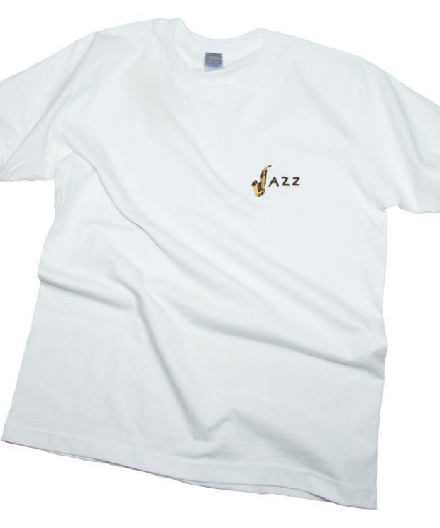 JAZZユニセックス Tシャツ刺しゅう