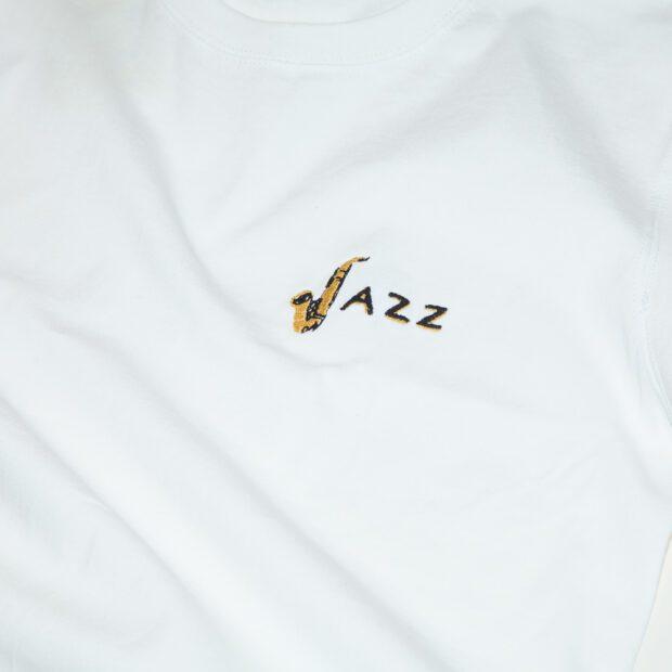 JAZZユニセックス Tシャツ刺しゅう 拡大