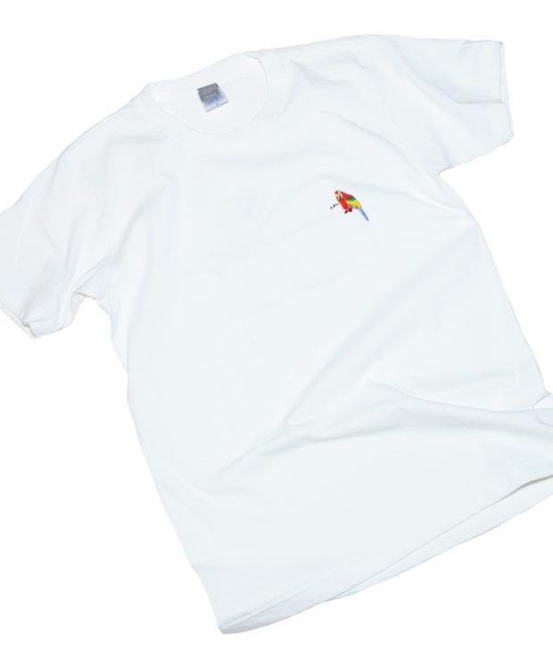 おうむペン先 刺繍 Tシャツ