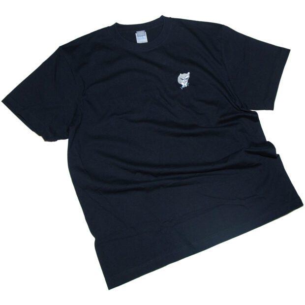 あらいぐま ユニセックス 刺繍 Tシャツ