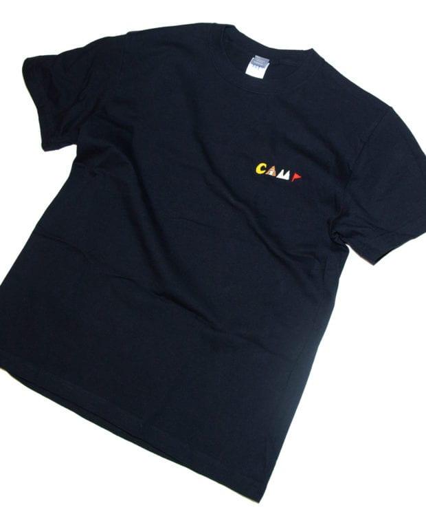 キャンプ 刺繍 Tシャツ ユニセックス