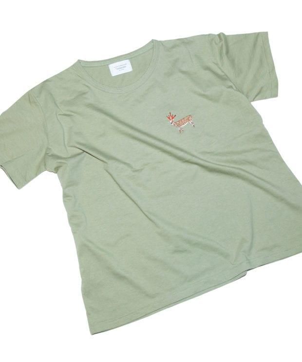 鹿鉛筆 レディース ビッグシルエット Tシャツ