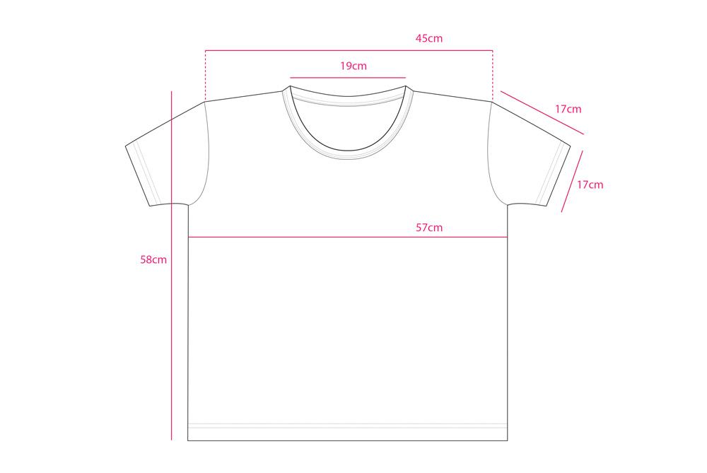 鹿鉛筆 レディース ビッグシルエット Tシャツ サイズ表