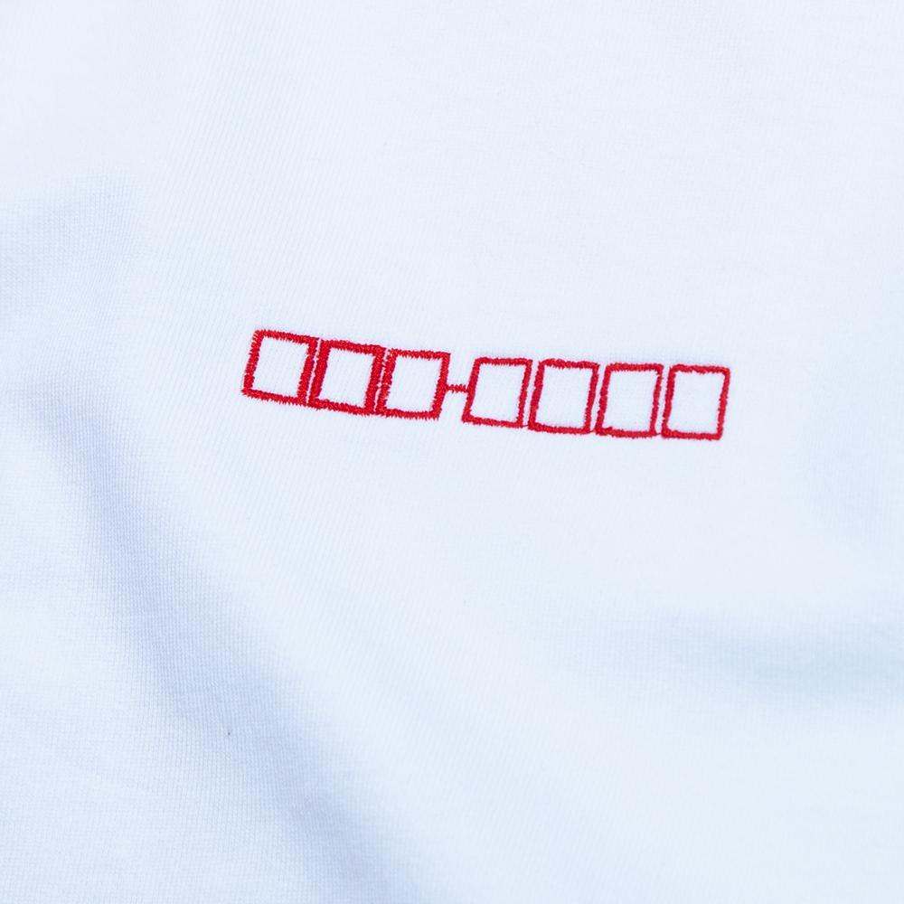 郵便番号刺繍Tシャツ 拡大