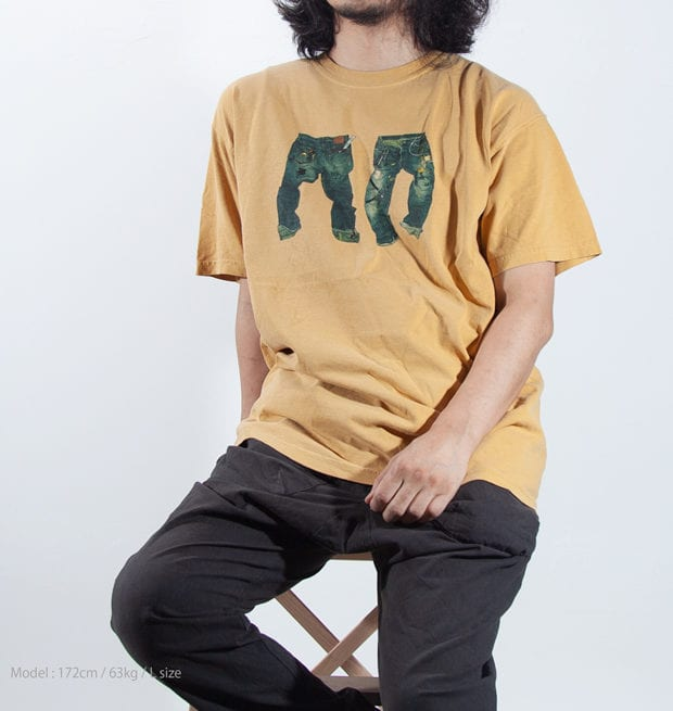 ダストデニムプリントTシャツ