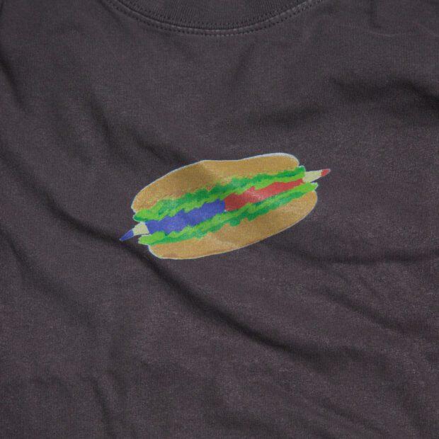 赤青鉛筆 ホットドッグ Tシャツ 拡大