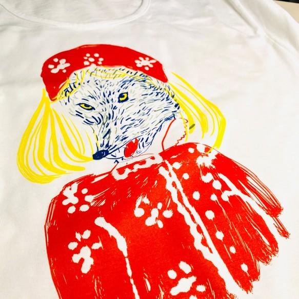 赤ずきんちゃん オオカミ Tシャツ レディース フリー