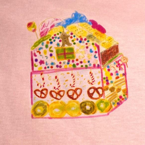 ヘンゼルとグレーテルのお菓子の家Tシャツ レディース フリー