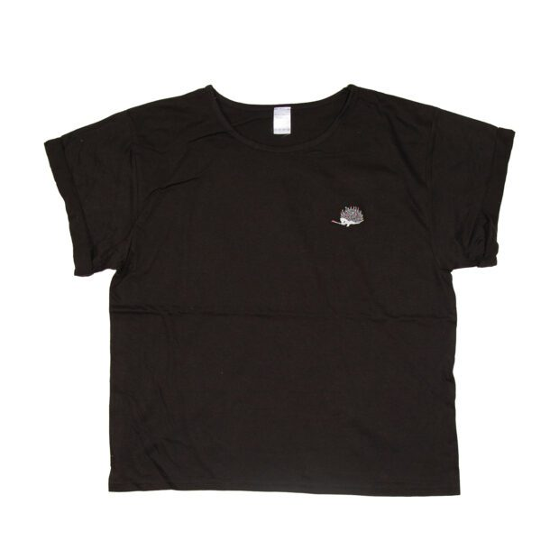 ハリネズミ刺繍Tシャツ