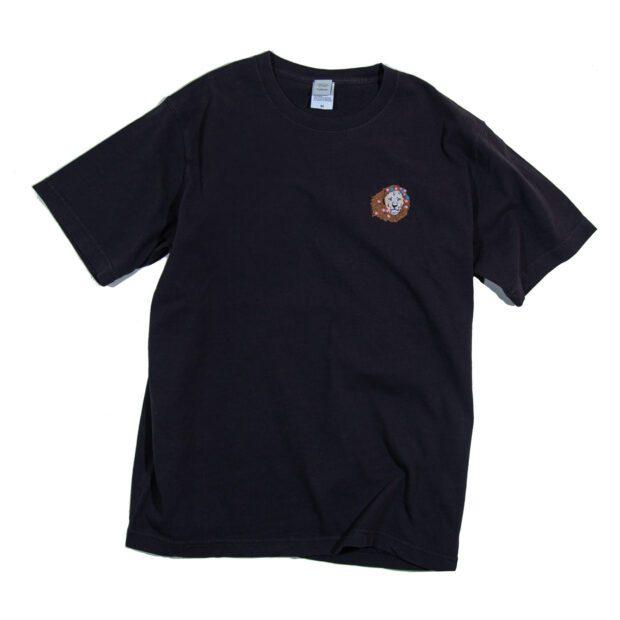 花ライオン刺繍Tシャツ