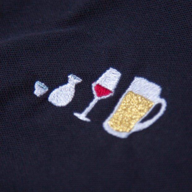 アルコールとわたしポロシャツ