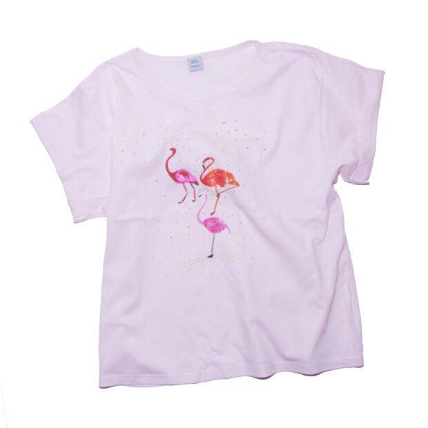 フラミンゴTシャツ