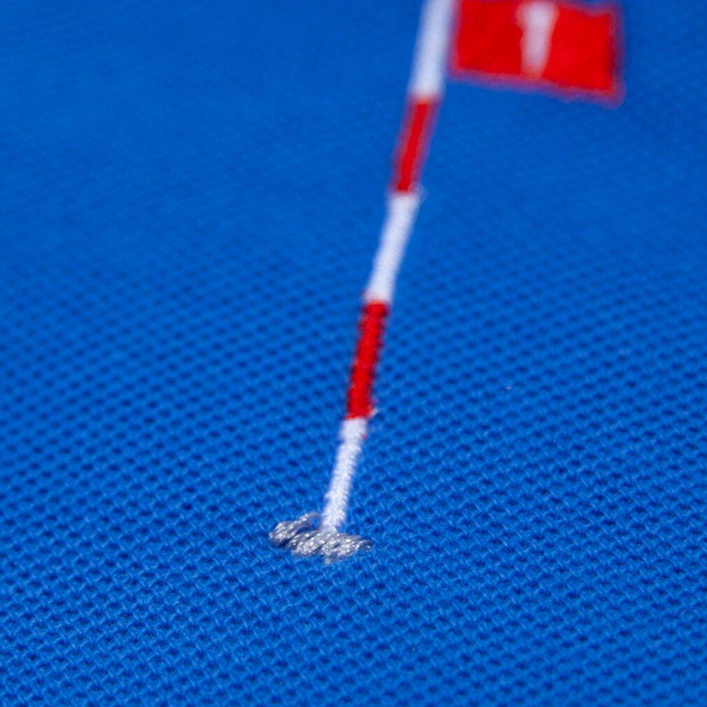 ゴルフのホールインワン(Hole in one)刺しゅうポロシャツ